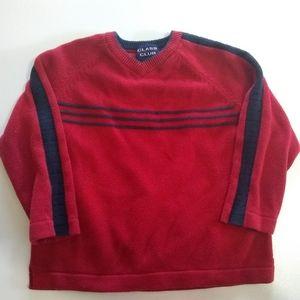 Class Club Striped V Neck Sweater